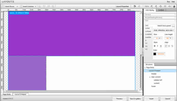 CSS Layouts in Dreamweaver