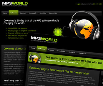 Digital Downloads Website Template