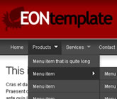 Eon Dreamweaver Template