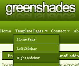 Greenshades Dreamweaver Template